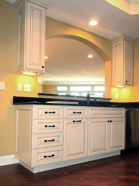two tone kitchen painted maple and espresso traditional kitchen