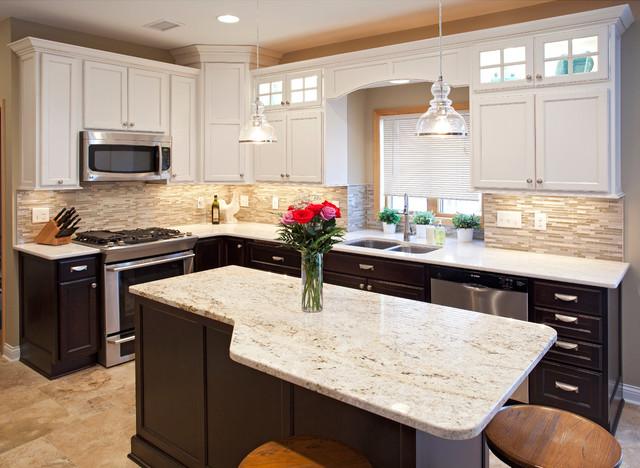 Two Tone Kitchen - Traditional - Kitchen - Minneapolis - by ...