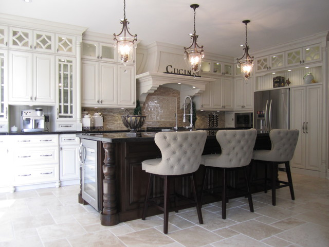 Merveilleux Two Tone Kitchens And Glazed Kitchens   Transitional ...
