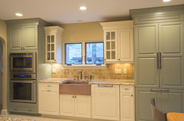 Two-tone Kitchens - Traditional - Kitchen - Boston - by Mary Porzelt ...