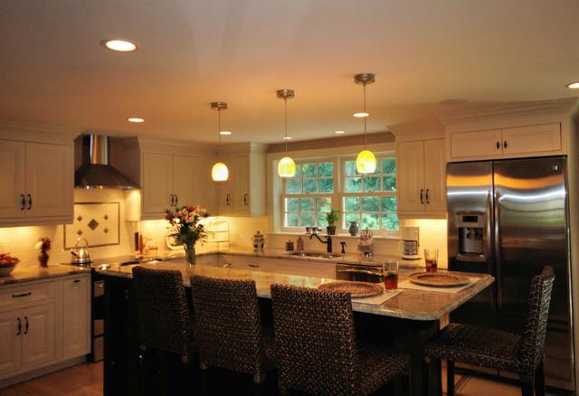 Two Tone Kitchens Contemporary Kitchen Boston By