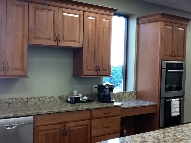 Two-toned Church Kitchen traditional-kitchen
