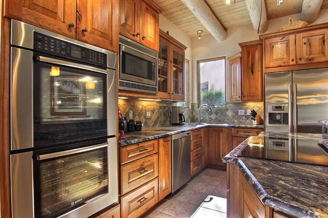 Two trails rustic kitchen albuquerque by roasted for Rustic home albuquerque