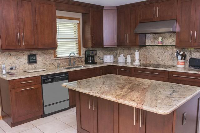 Typhoon Bordeaux Countertops - Transitional - Kitchen ... on Typhoon Bordeaux Granite Backsplash Ideas  id=12530