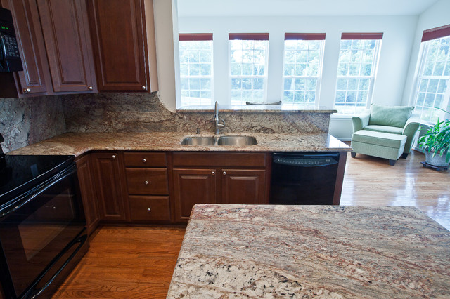 Typhoon Bordeaux Granite - Traditional - Kitchen - dc metro - by Granite Grannies