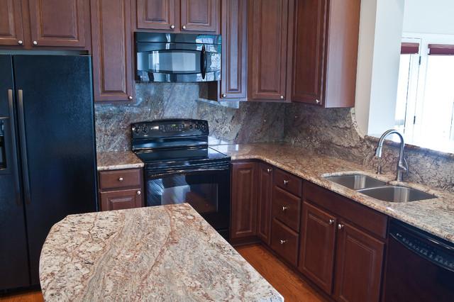 Typhoon Bordeaux Granite - Traditional - Kitchen - dc ... on Typhoon Bordeaux Granite Backsplash Ideas  id=17998