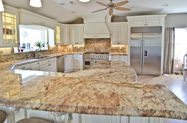 Typhoon Bordeaux Granite With Full Backsplashtraditional Kitchen Dc Metro