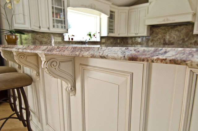 typhoon bordeaux granite with full backsplash traditional kitchen