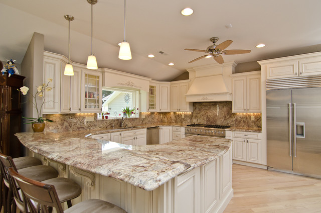 Typhoon Bordeaux Granite with Full Backsplash ...