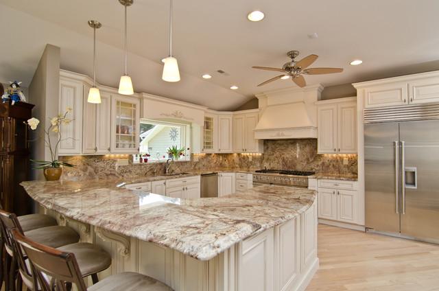 Merveilleux Typhoon Bordeaux Granite With Full Backsplash Traditional Kitchen