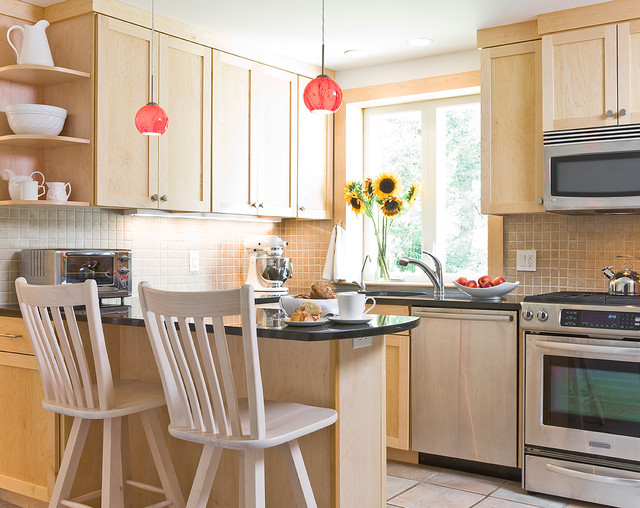 U Shaped Galley Kitchen For A Cape Contemporary Kitchen Boston By Hands On Construction