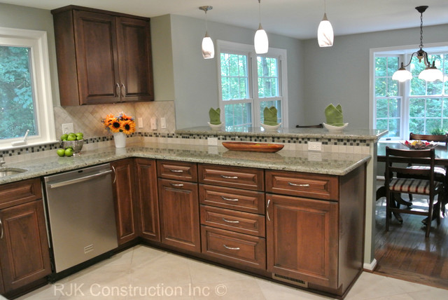 U-Shaped Kitchen Remodel - Contemporary - Kitchen - DC Metro - by ...