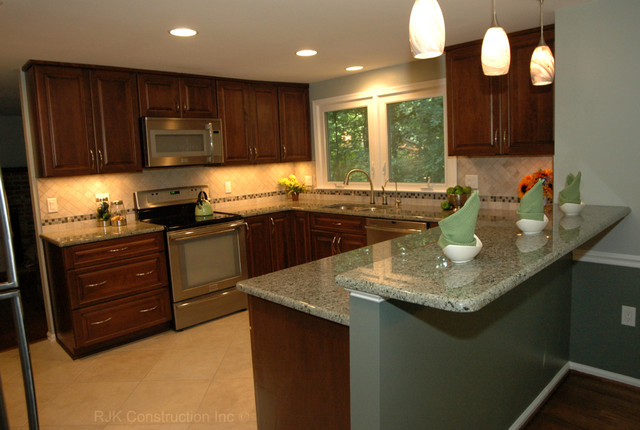U shaped kitchen remodel contemporary kitchen dc for U shaped kitchen remodel ideas