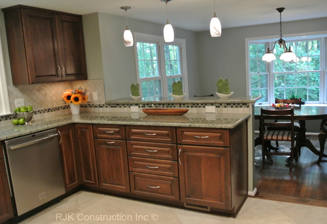 U Shaped Kitchen Remodel Contemporary Kitchen Dc Metro By Rjk Construction Inc Houzz Ie