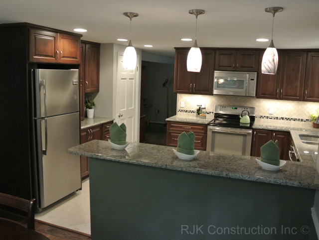 U Shaped Kitchen Remodel Before And After Custom Ushaped Kitchen Remodel  Contemporary  Kitchen  Dc Metro . Inspiration Design