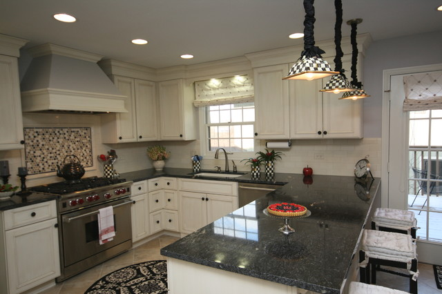U shaped kitchen traditional kitchen chicago by for U kitchen and bath jericho