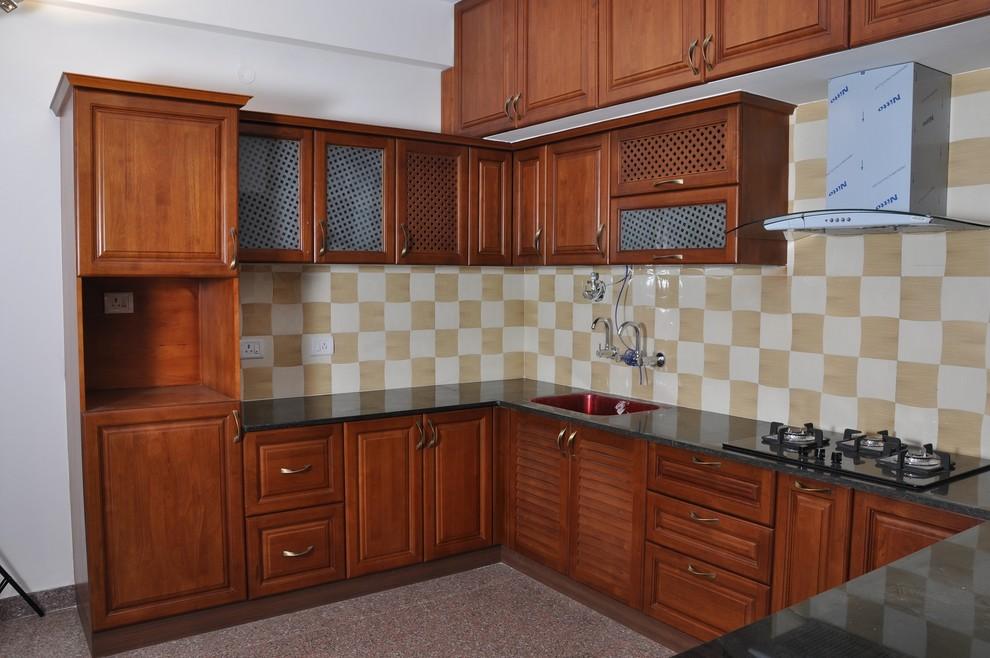 U Shaped Modular Kitchen Bangalore Indian Kitchen Bengaluru By Scale Inch Pvt Ltd