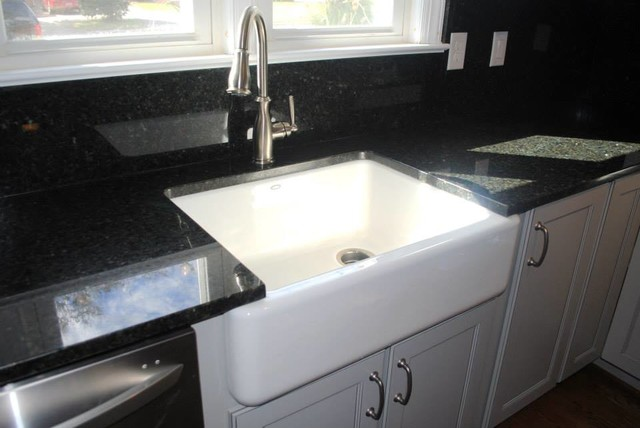 Superbe Uba Tuba Granite And Blackspash, Kohler Whitehaven Sink, Moen Brandtford  Faucet Kitchen
