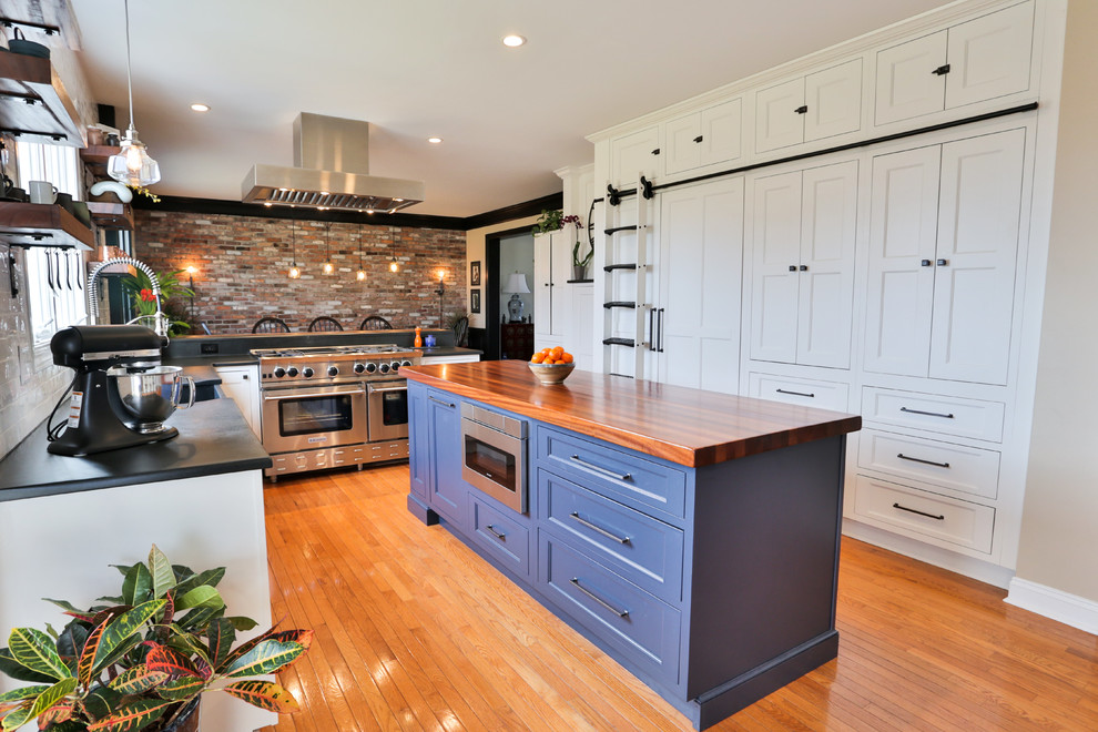 Ultimate Chef Kitchen Farmhouse Kitchen New York By Two Chefs Construction Houzz