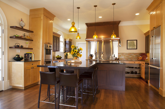 Ultimate family room contemporary-kitchen
