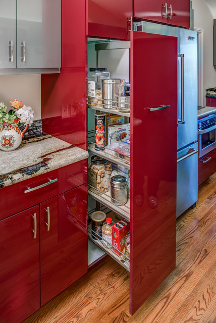 Ultra Contemporary, Red, High Gloss Kitchen - Modern ...