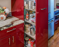 Ultra Contemporary, Red, High Gloss Kitchen modern-kitchen