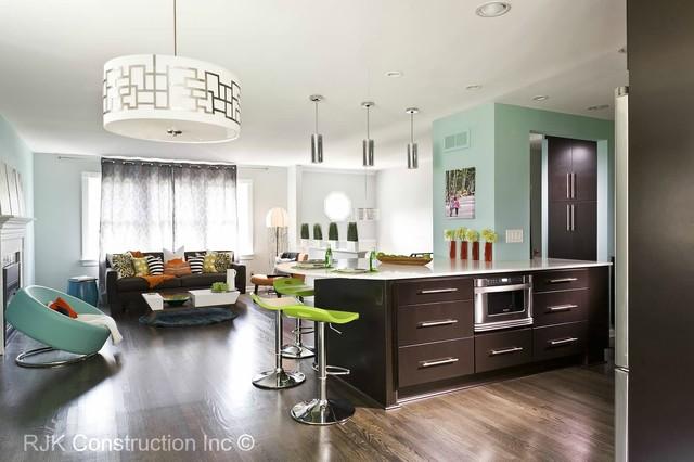 Ultra Modern Living Room Minimalistisch Kuche