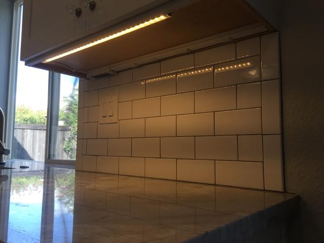 Under Cabinet LED Lighting & GFCI power strip - Modern ...