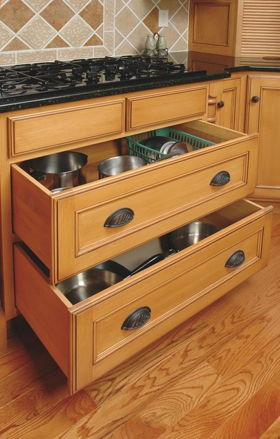 under cabinet drawers kitchen cooktop cookware drawers traditional kitchen 27466