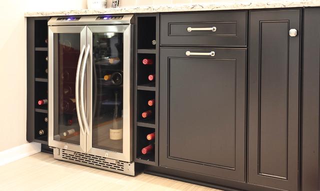 Under counter wine storage - Transitional - Kitchen - Chicago - by ...