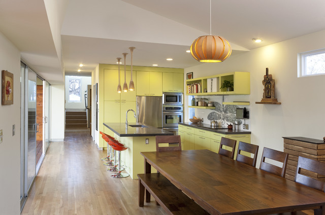 Under Tree House contemporary kitchen