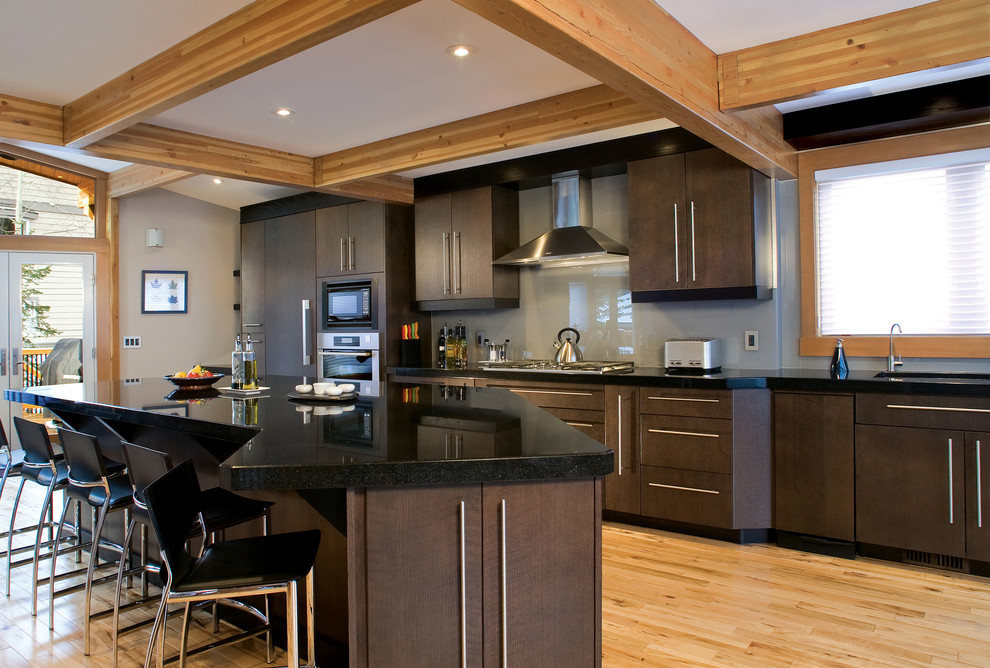 Understated Elegance Contemporary Kitchen Edmonton By Huntwood Custom Cabinets