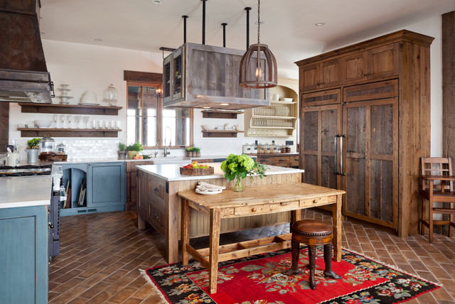 """Rustic Farmhouse Kitchen unfitted"""" rustic farmhouse - farmhouse - kitchen - denver -"""