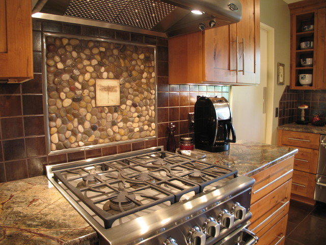 Unique Kitchen Backsplash - rustic - kitchen - other metro - by ...