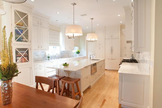cool cape cod kitchen island design | Cape Cod White Kitchen - Traditional - Kitchen - Dallas ...