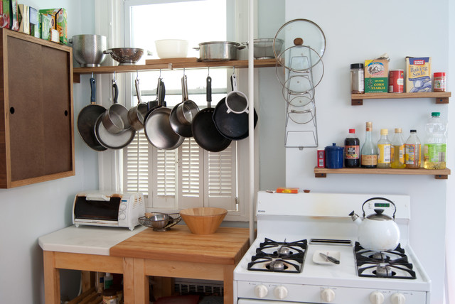 Upcycled Everything Apartment Kitchen Renovation Eclectic Kitchen