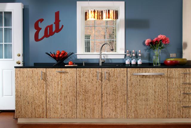 Upcycled kitchen in arlington va contemporary kitchen for Upcycled kitchen cabinets