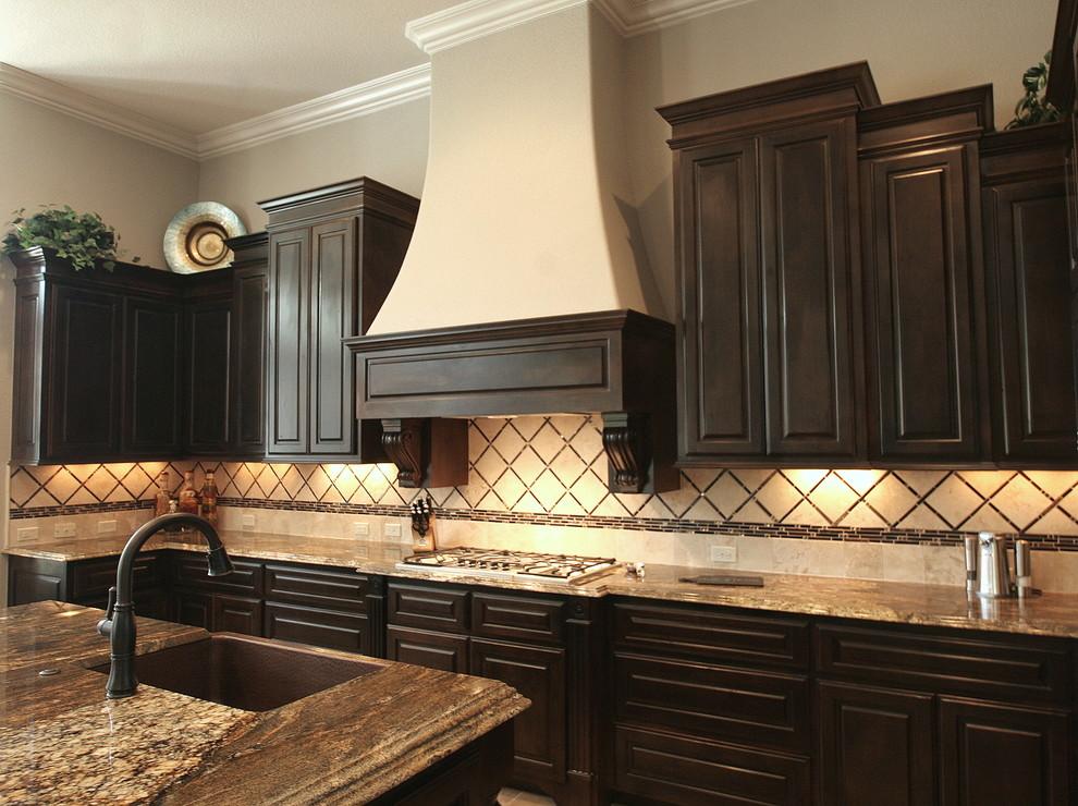 Updated Espresso Kitchen Cabinets - Traditional - Kitchen ...