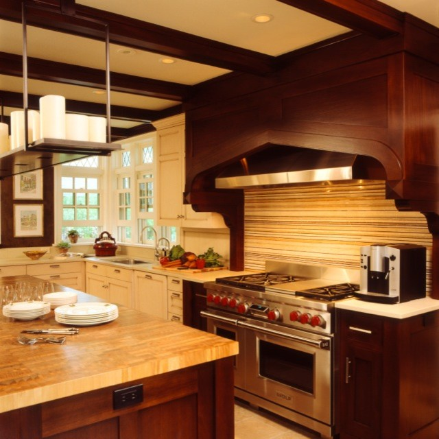 Updated tudor modern kitchen contemporary kitchen minneapolis by andrew flesher interiors Modern houses interior kitchen