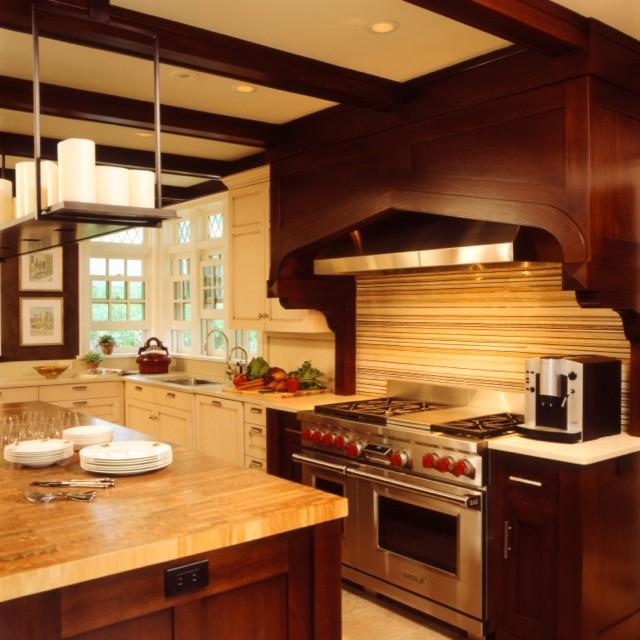 Updated Tudor Modern Kitchen