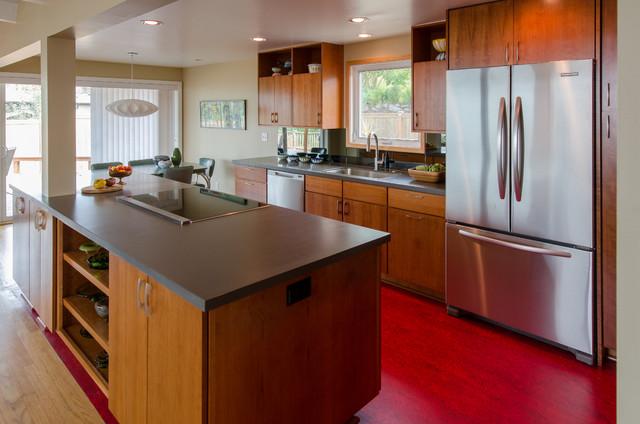 Upper Alki Kitchen Remodel - Midcentury - Kitchen - seattle - by Kirk ...