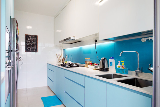 Upper Serangoon Crescent 4 room BTO contemporary kitchen. Upper Serangoon Crescent 4 room BTO