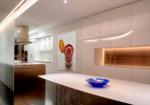 Upper West Side Duplex modern-kitchen