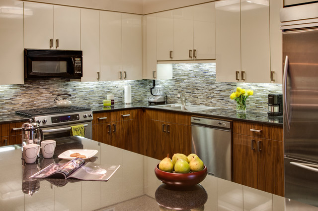 Upper West Side Pied a Terre contemporary-kitchen