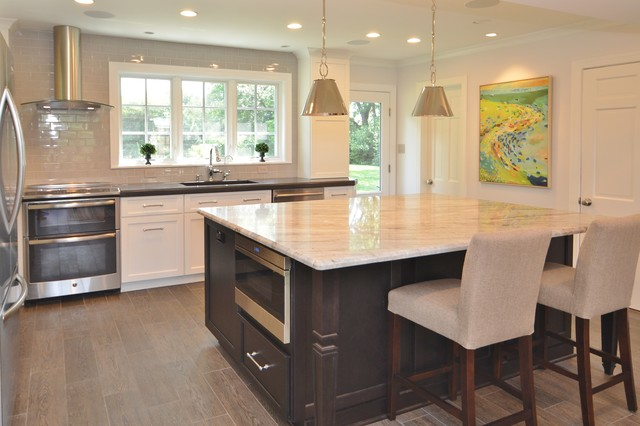Upscale Farmhouse Transitional Kitchen dc metro by Sunday Kitchen &am