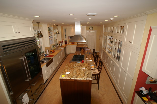 Upscale galley kitchen traditional kitchen boston for Traditional galley kitchens