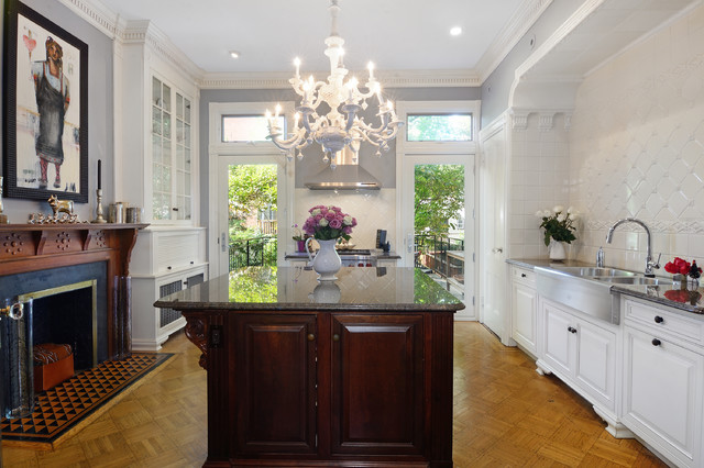 Uptown Bloomfield Brownstone transitional-kitchen