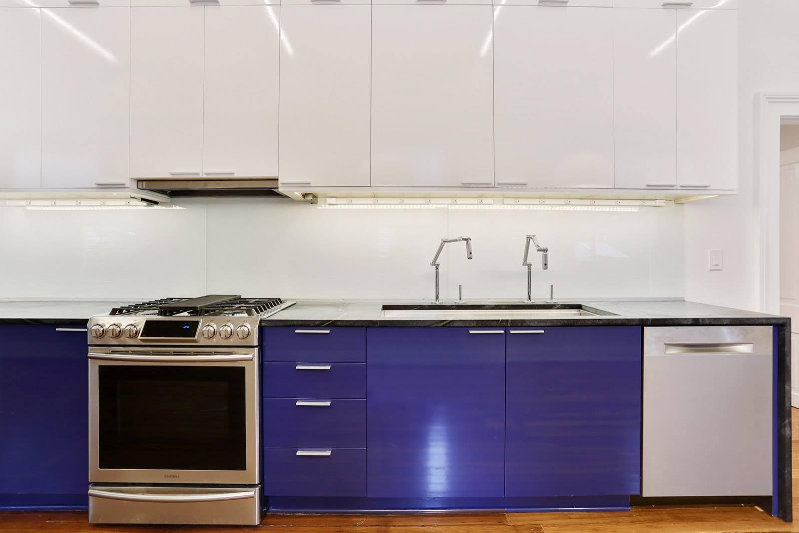 Uptown Cobalt Blue Modern Kitchen