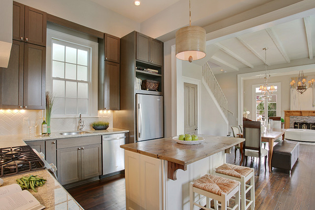 uptown new orleans cottage kitchen renovation - traditional