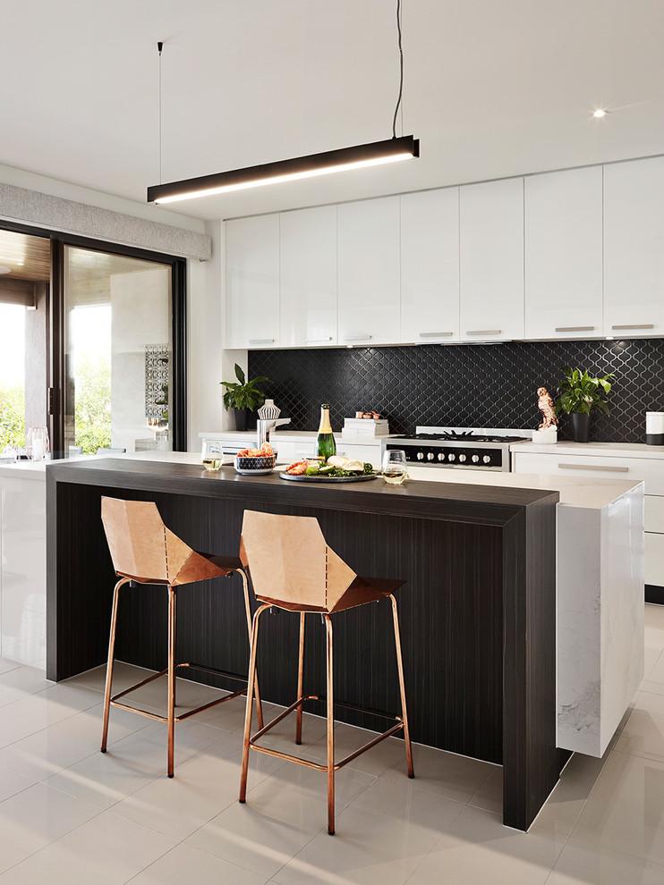 メルボルンのコンテンポラリースタイルのキッチンの画像